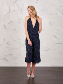 ROSE-ANNA NAVY HEART JUMPSUIT
